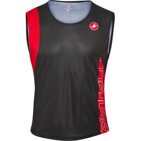 Castelli T.O. Alii Koszulka do biegania bez rękawów Mężczyźni czerwony/czarny